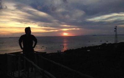 sunset bukit joko tuwo karimunjawa